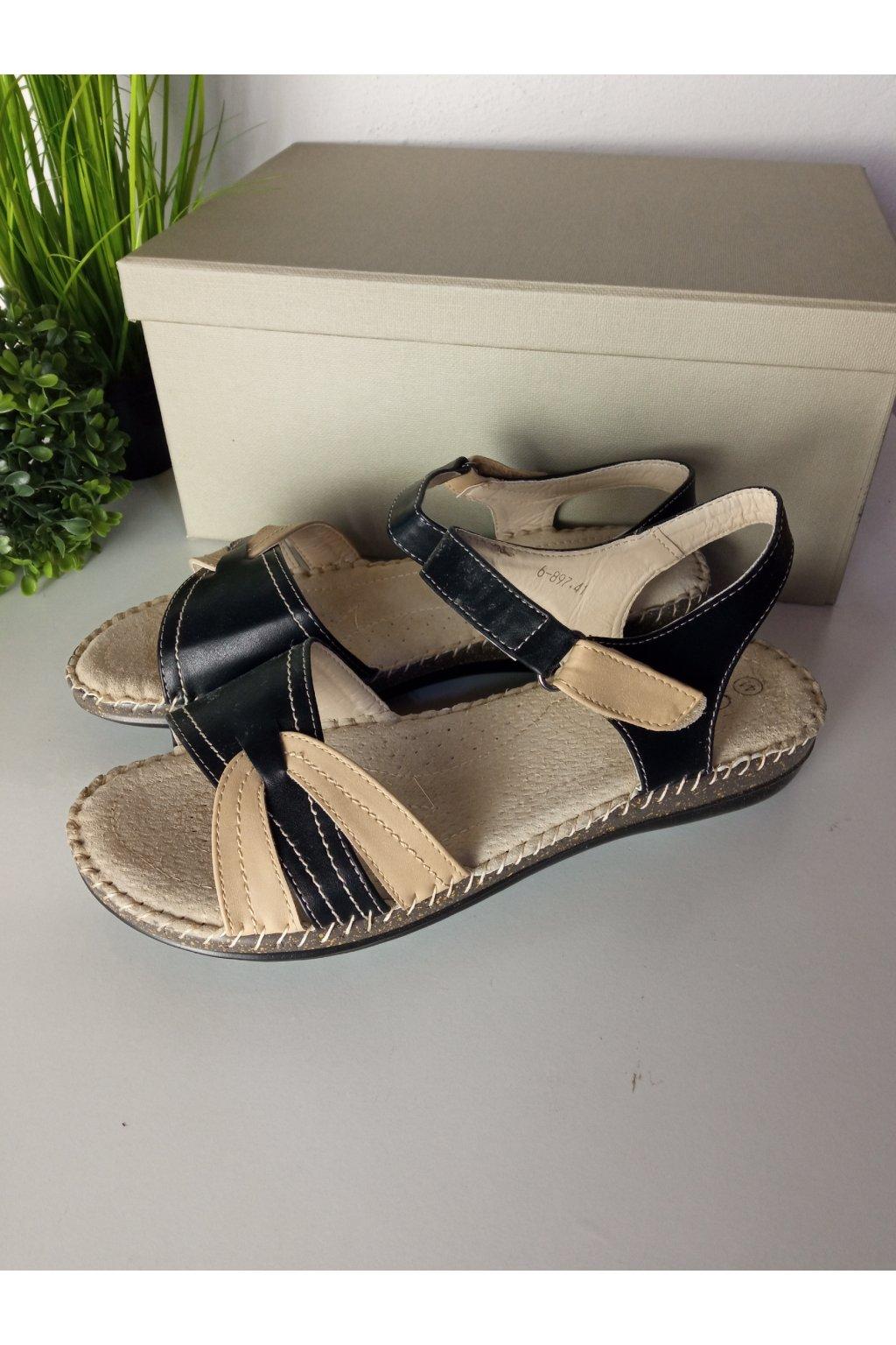 Čierne sandále NJSK 6-897B