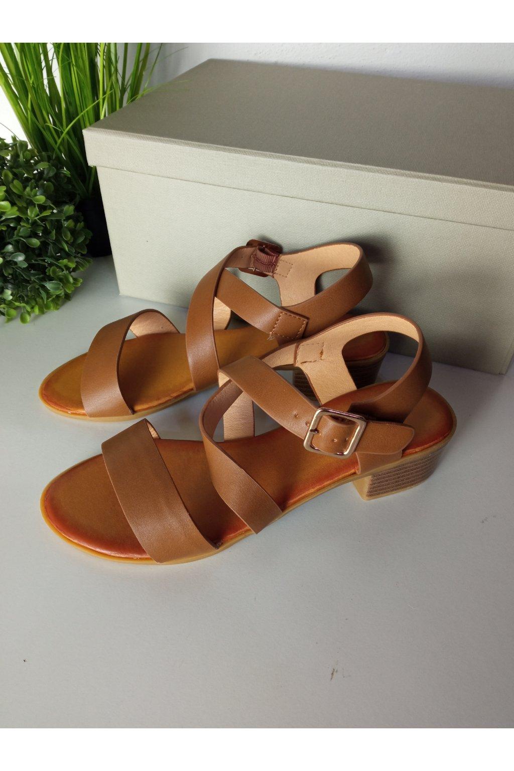 Hnedé sandále NJSK A203C