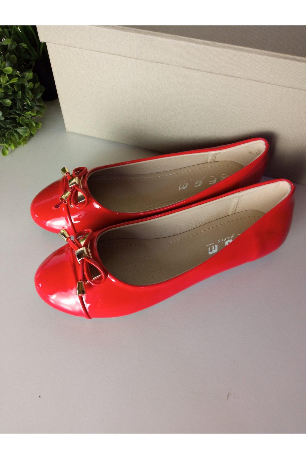 Červené balerínky NJSK 16835R