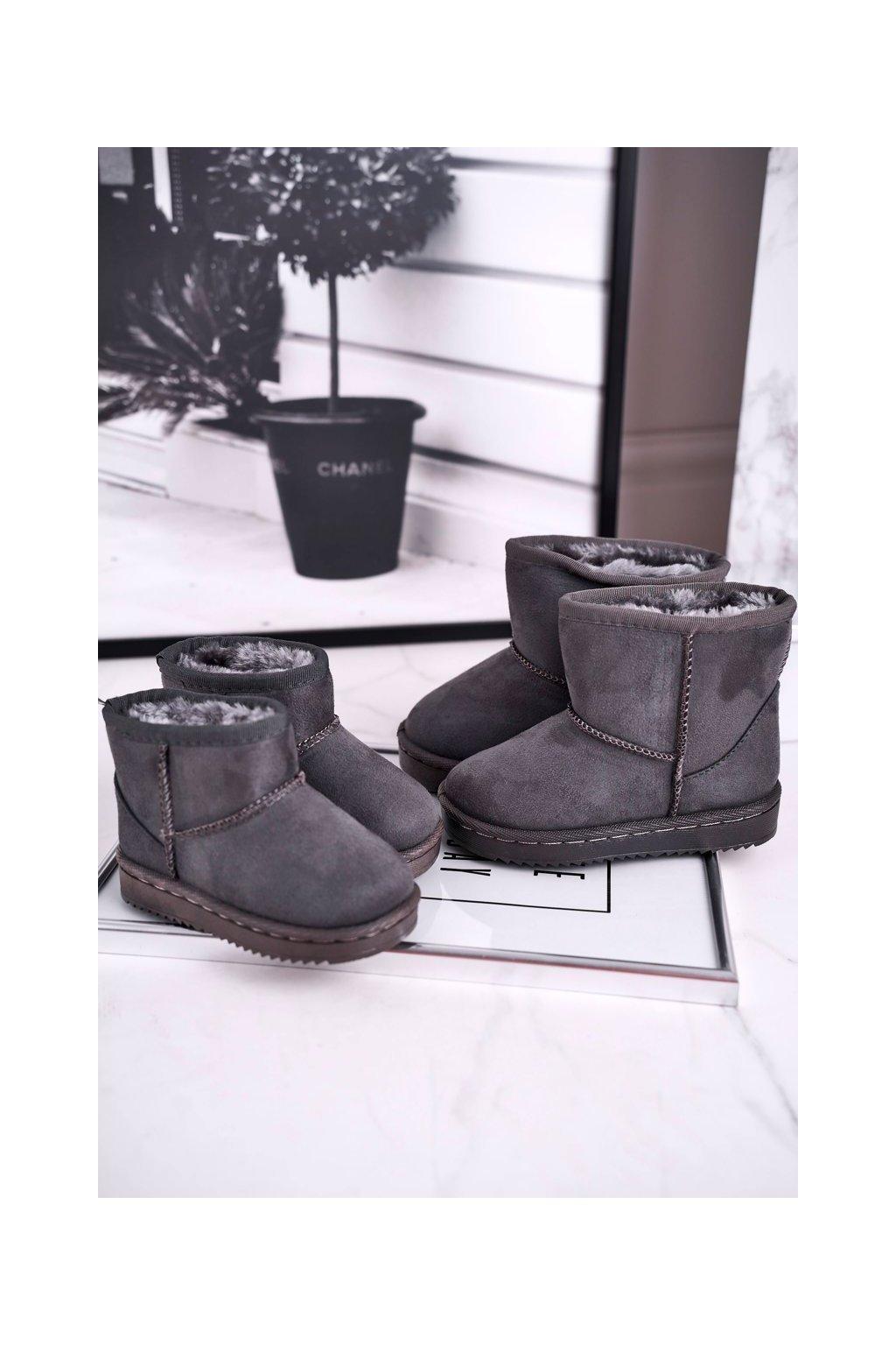 Detské členkové topánky farba sivá kód obuvi 20213-1B/2B/3B GREY