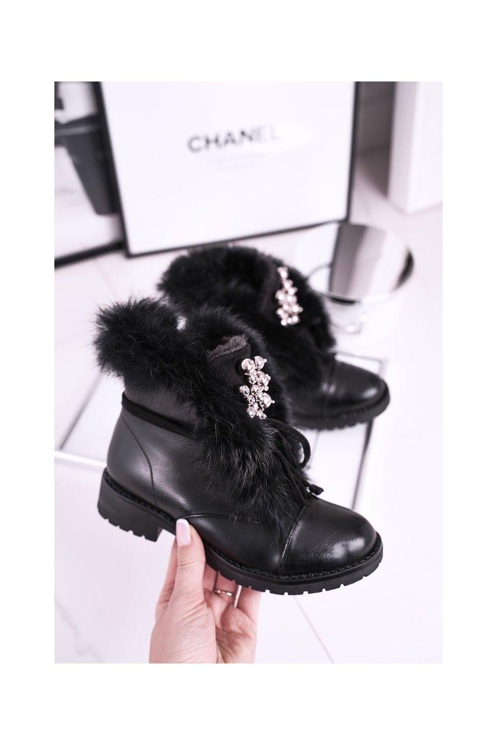 Detské členkové topánky farba čierna kód obuvi CT900A BLK
