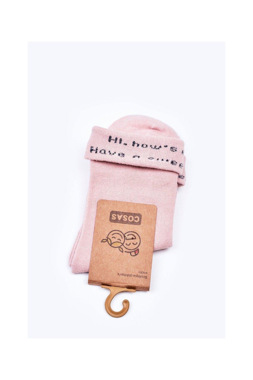 Detské ponožky farba ružová kód LC10-2 PINK