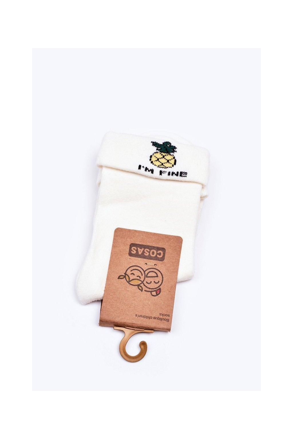 Detské ponožky farba biela kód LC10-3 WHITE