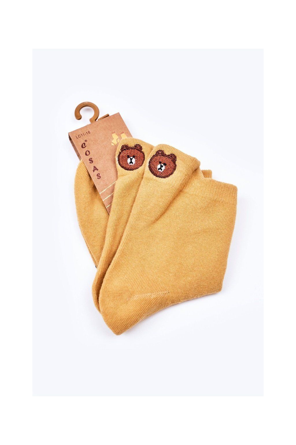 Detské ponožky farba žltá kód LC11-18 YELLOW