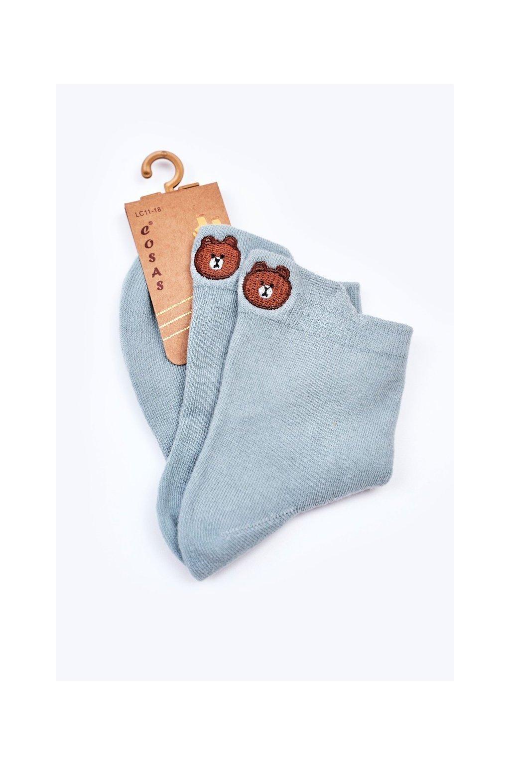 Detské ponožky farba zelená kód LC11-18 GREEN