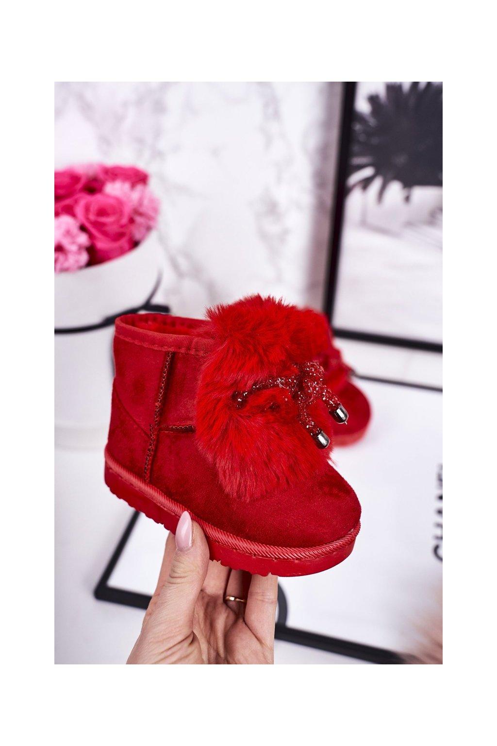 Detské snehule farba červená kód obuvi 602-1E RED
