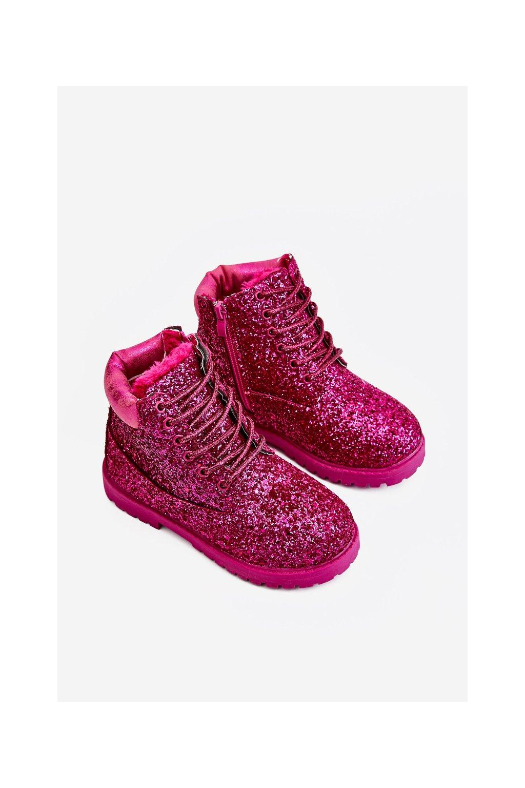 Detské členkové topánky farba ružová kód obuvi 20307-1C/2C PEACH