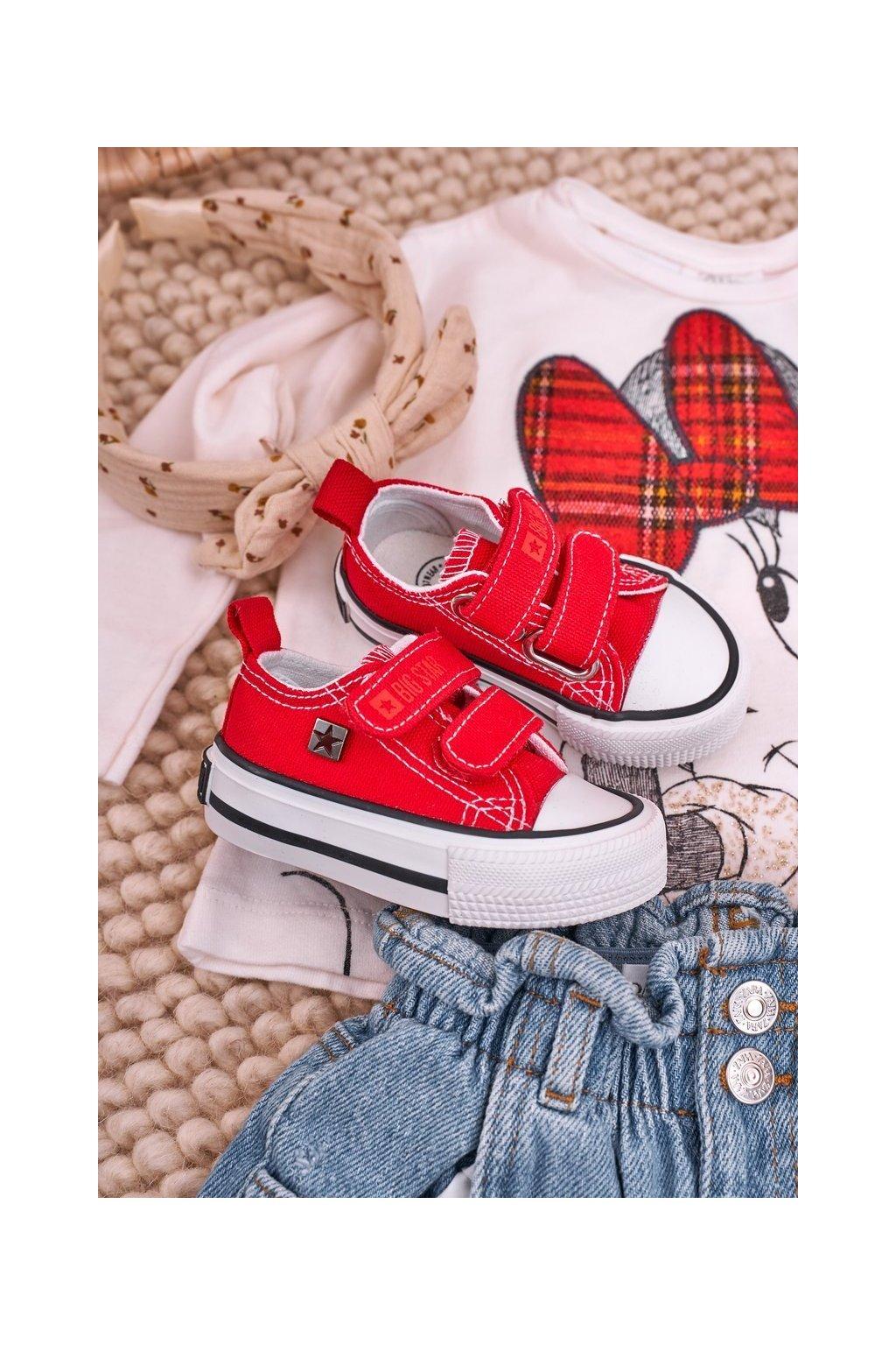 Detské tenisky farba červená kód obuvi HH374202 RED