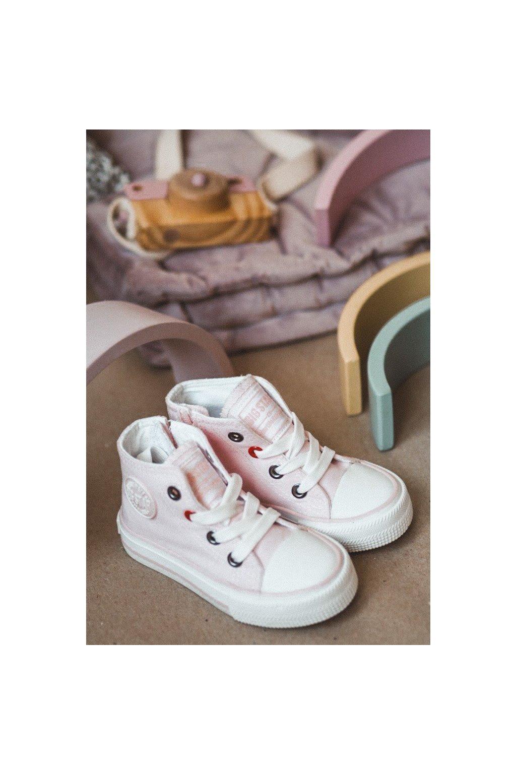 Detské tenisky farba ružová kód obuvi HH374087 PINK