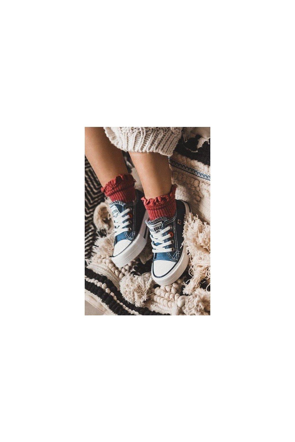 Detské tenisky farba modrá kód obuvi HH374091 NAVY