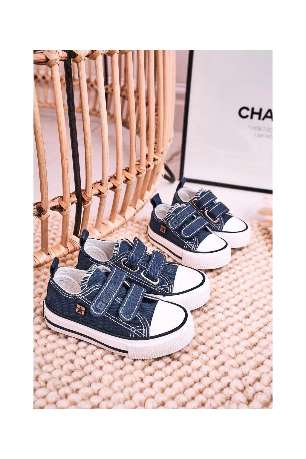 Detské tenisky farba modrá kód obuvi HH374097 NAVY