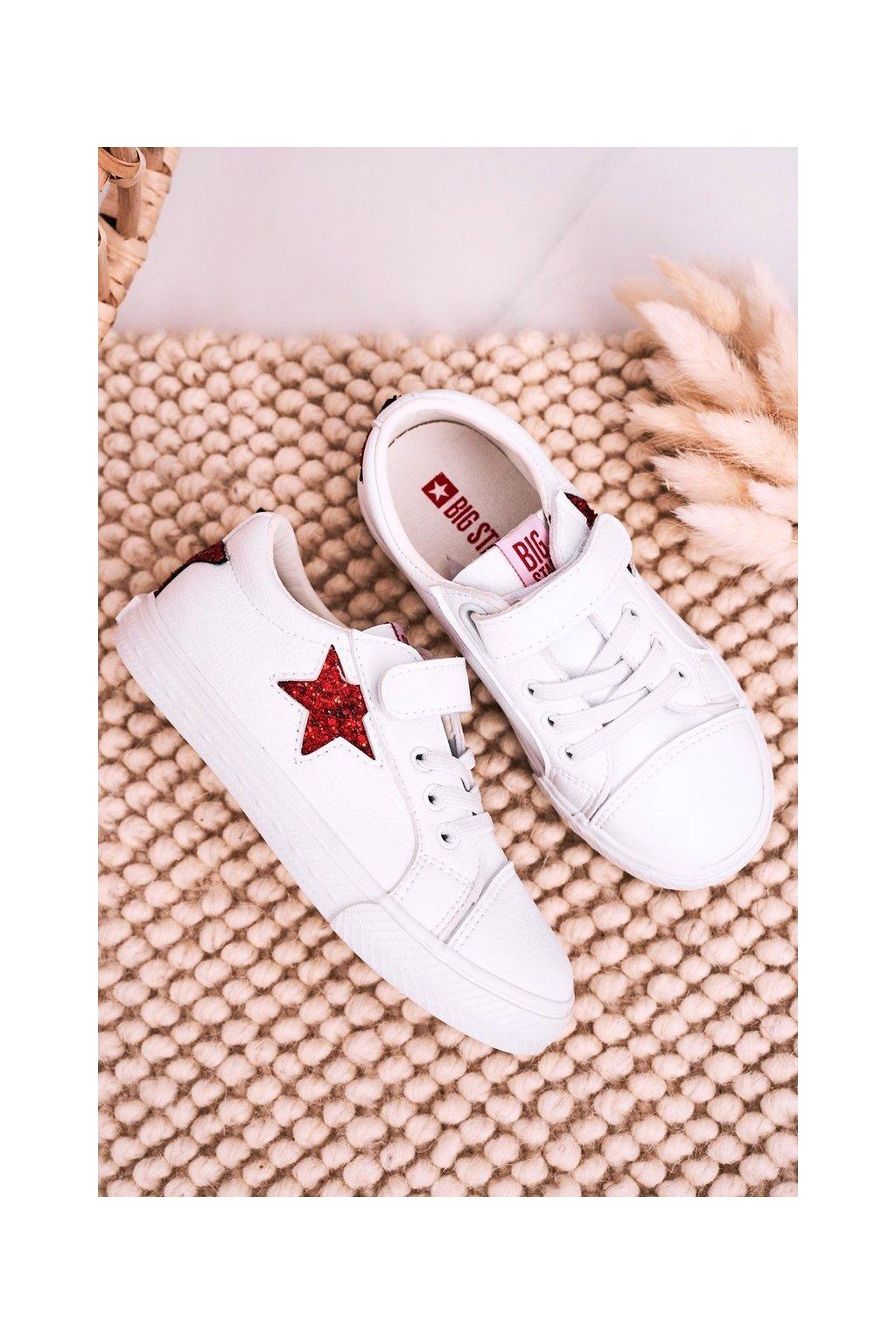 Detské tenisky farba biela kód obuvi DD374102 WHITE