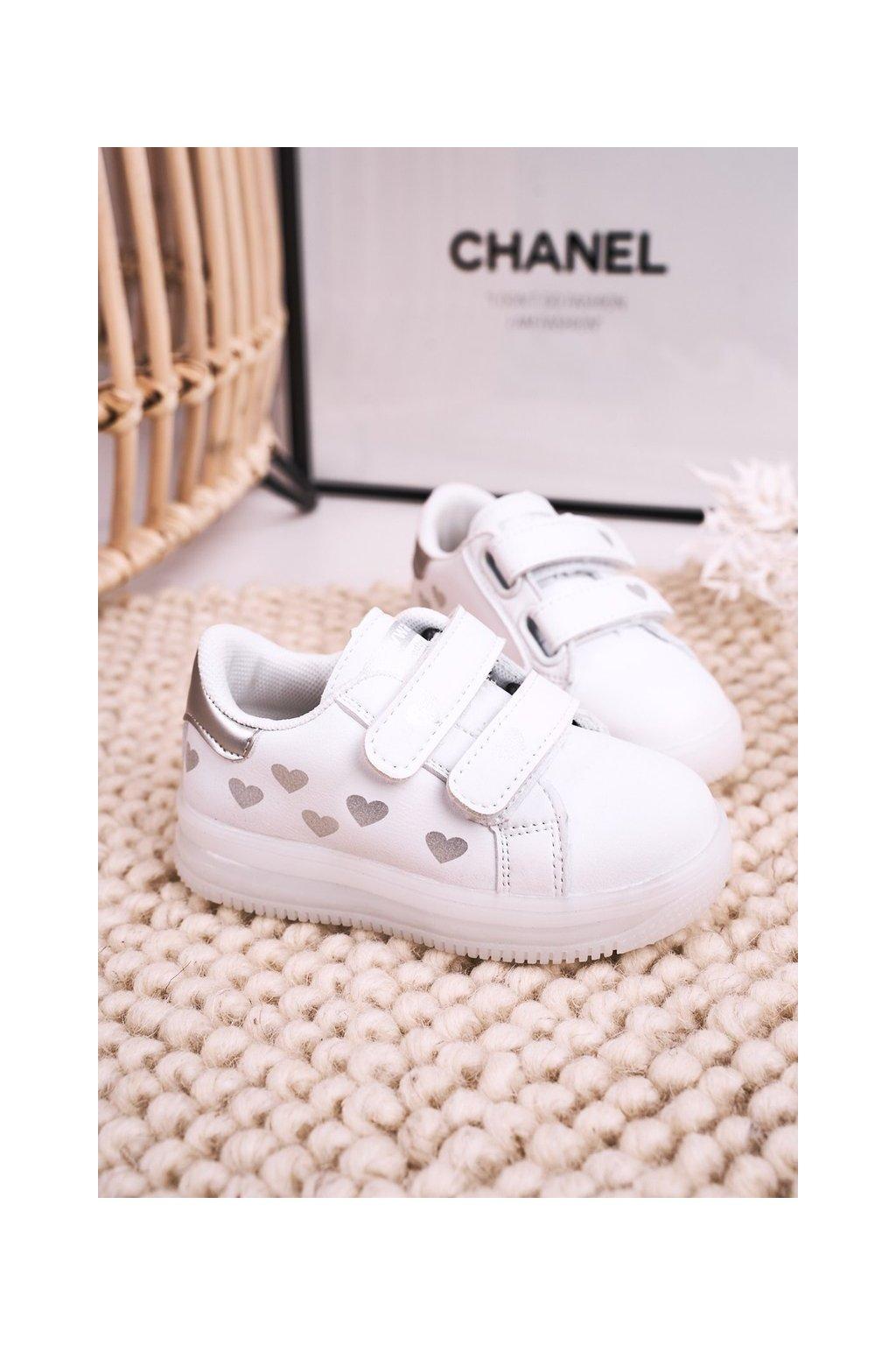 Detské tenisky farba biela kód obuvi NC58 SILVER