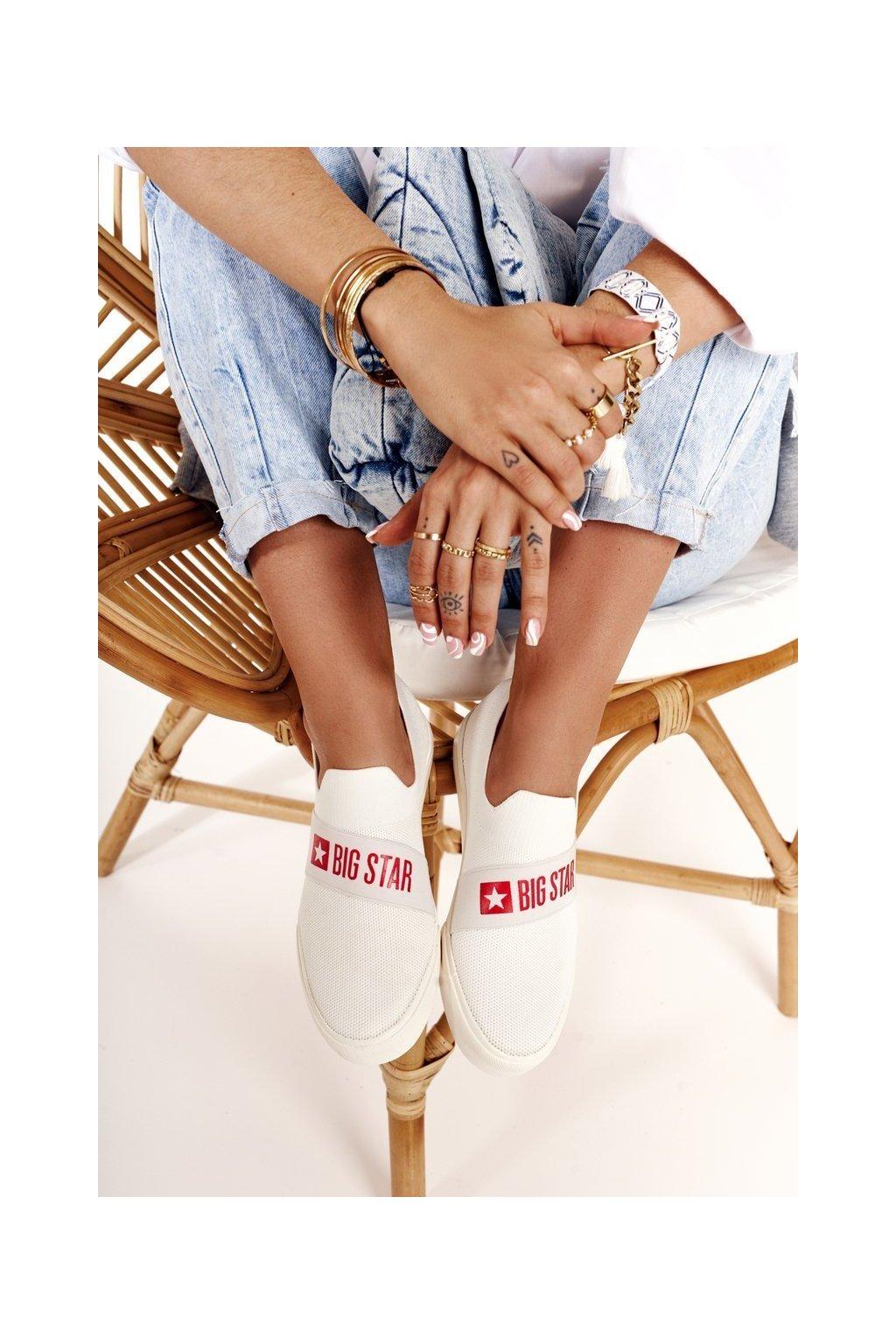 Dámske tenisky farba biela kód obuvi FF274219 WHITE