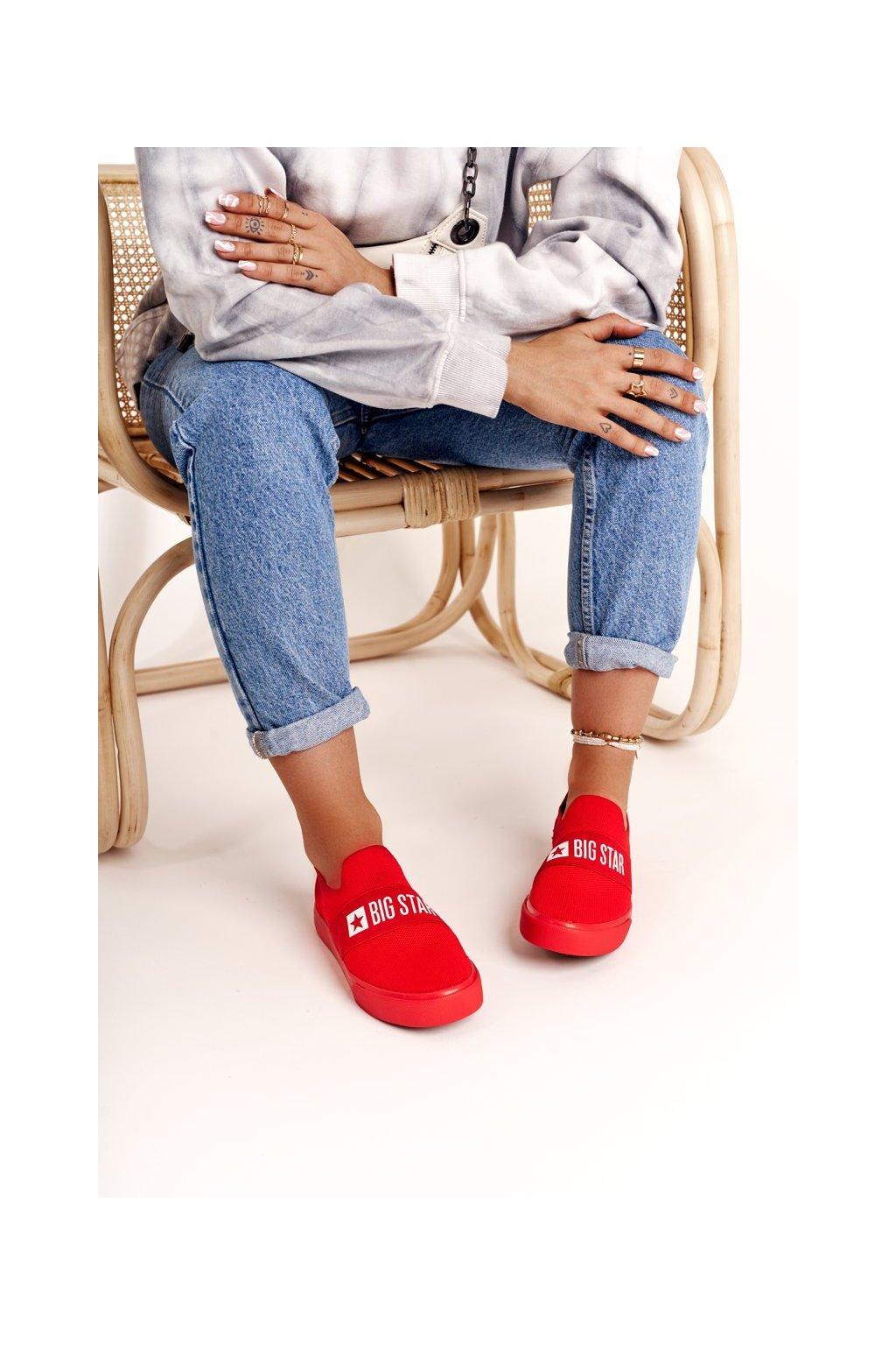 Dámske tenisky farba červená kód obuvi FF274220 RED