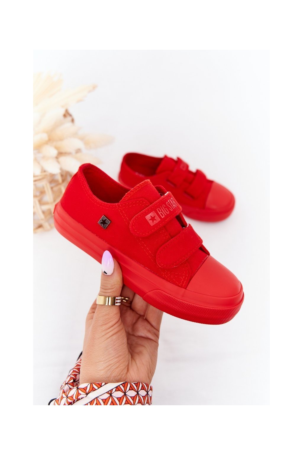 Detské tenisky farba červená kód obuvi FF374097 RED