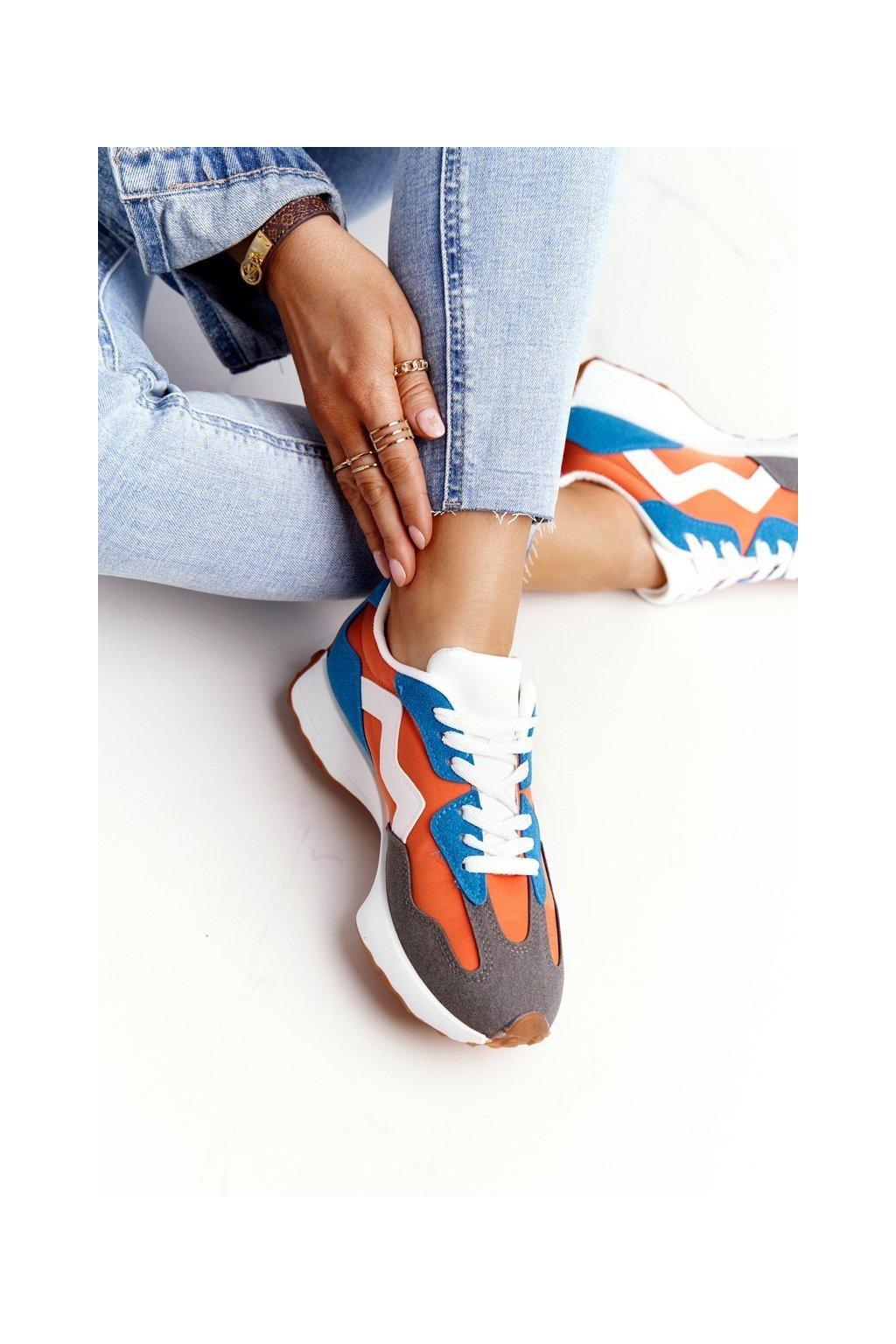Dámske tenisky farba oranžová kód obuvi BL208 ORANGE