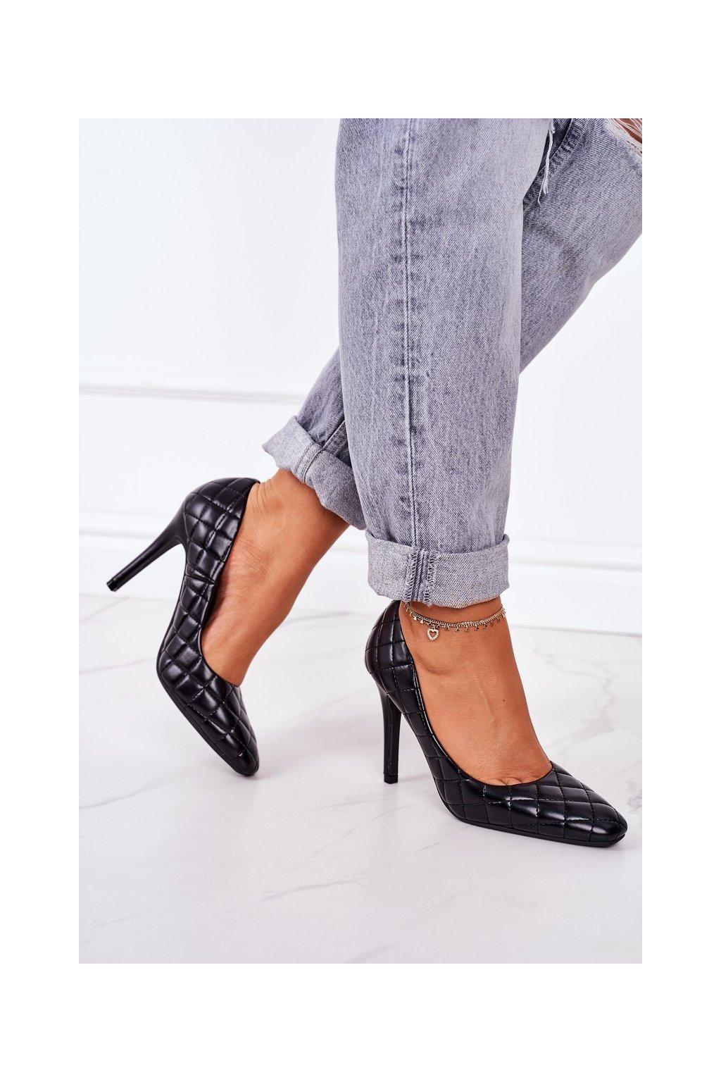 Dámske lodičky farba čierna kód obuvi LE082P BLACK