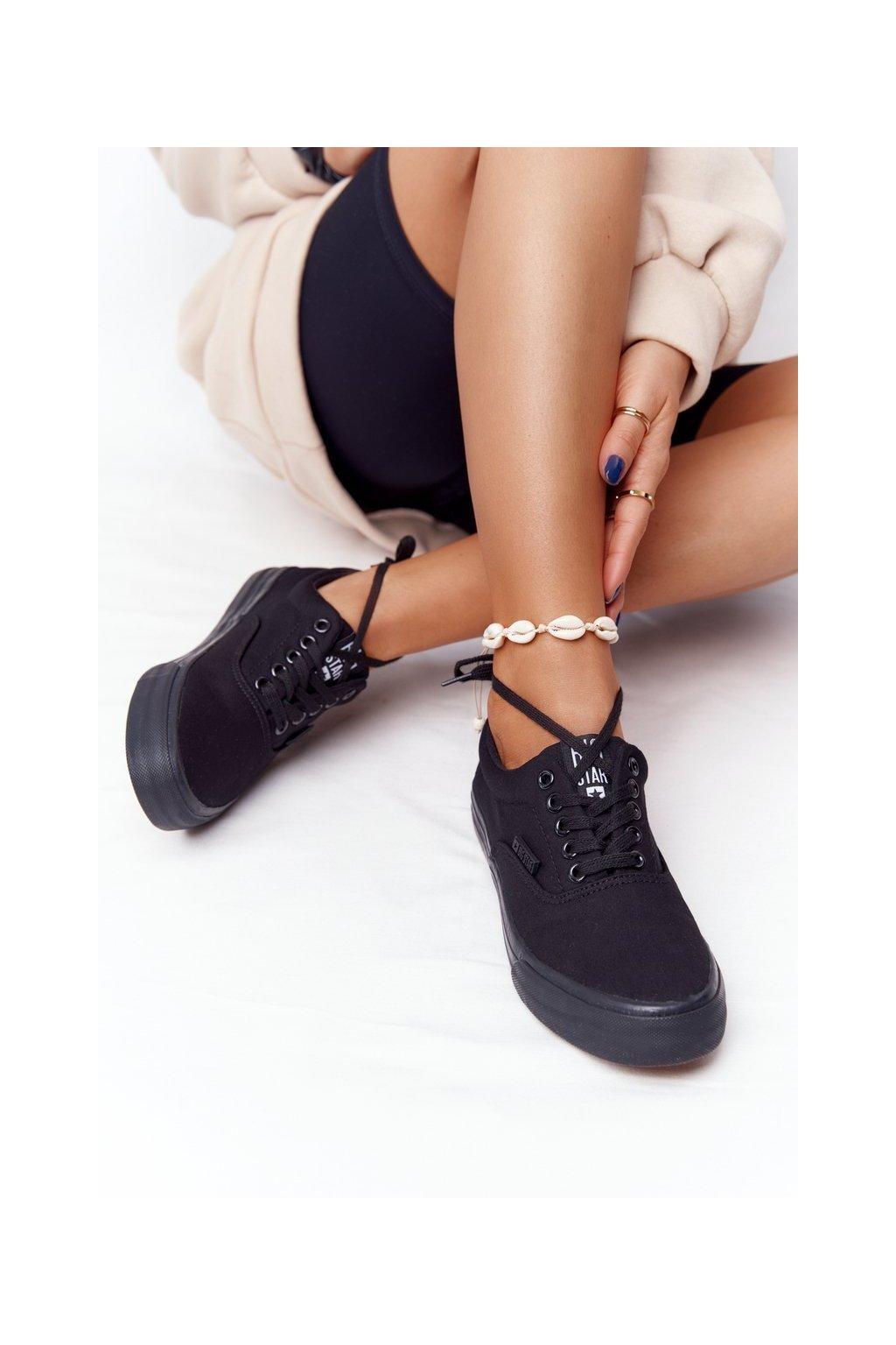 Dámske tenisky farba čierna kód obuvi FF274164 BLACK