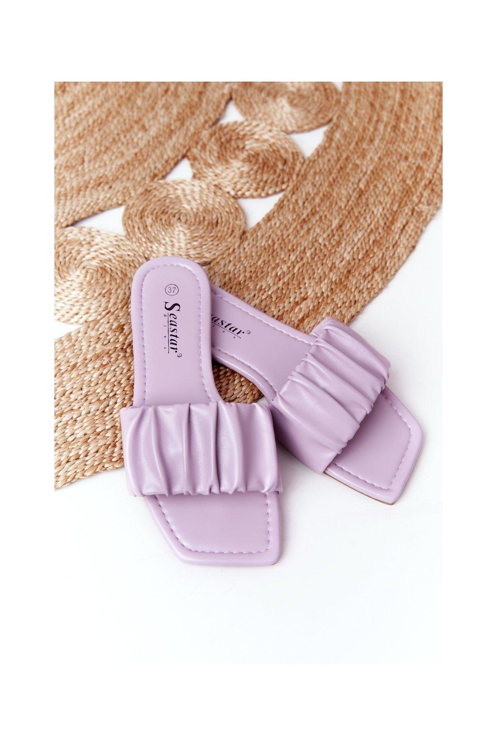 Dámske šľapky farba fialová kód obuvi CK165 PURPLE