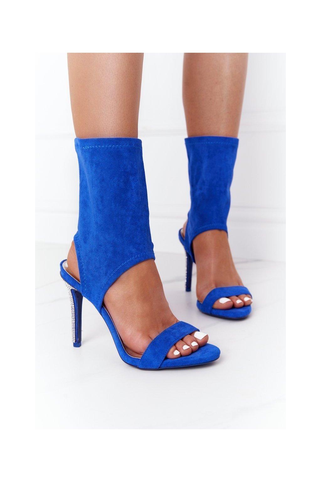Dámske sandále farba modrá kód obuvi D-52 BLUE