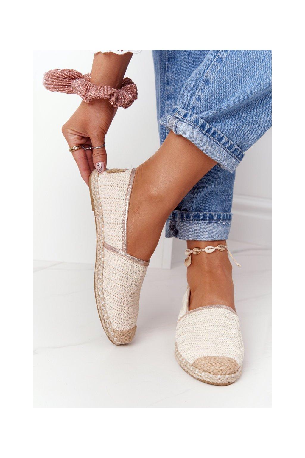 Dámske tenisky farba hnedá kód obuvi 2870-6 OFF WHITE