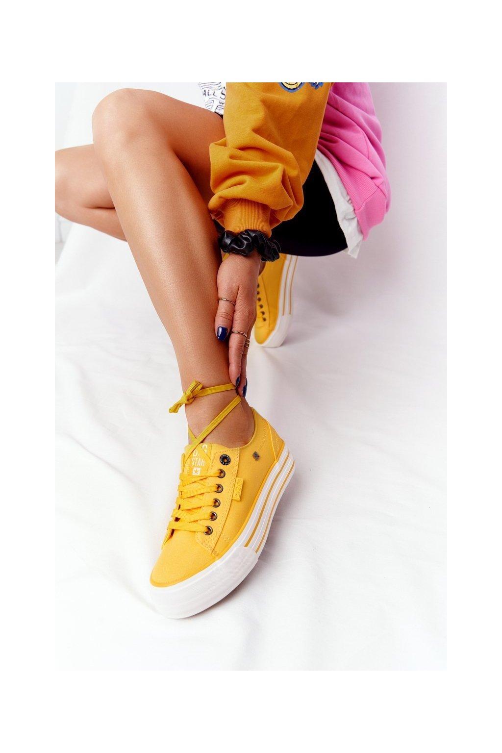 Dámske tenisky farba žltá kód obuvi HH274055 YELLOW