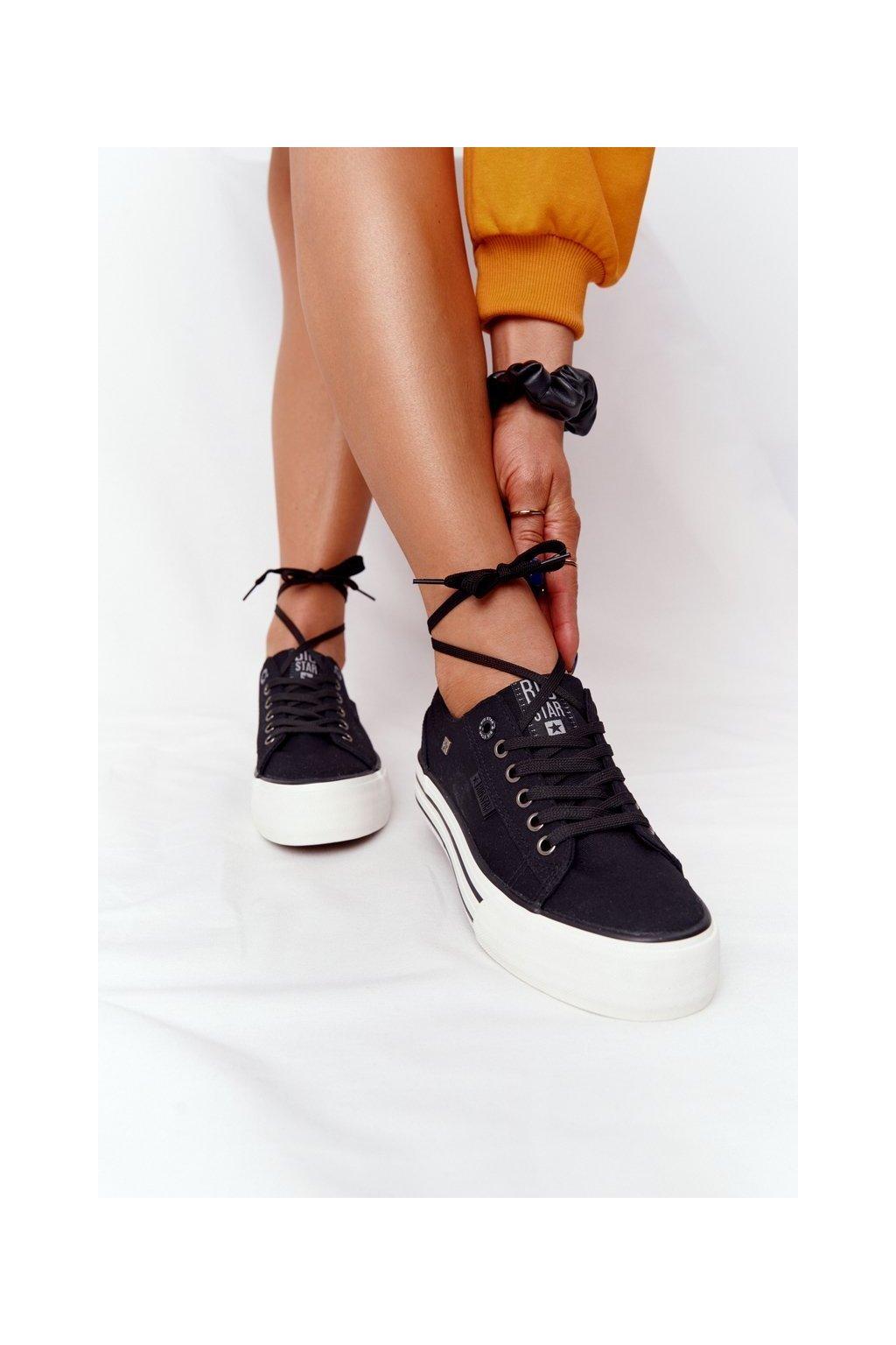 Dámske tenisky farba čierna kód obuvi HH274056 BLACK