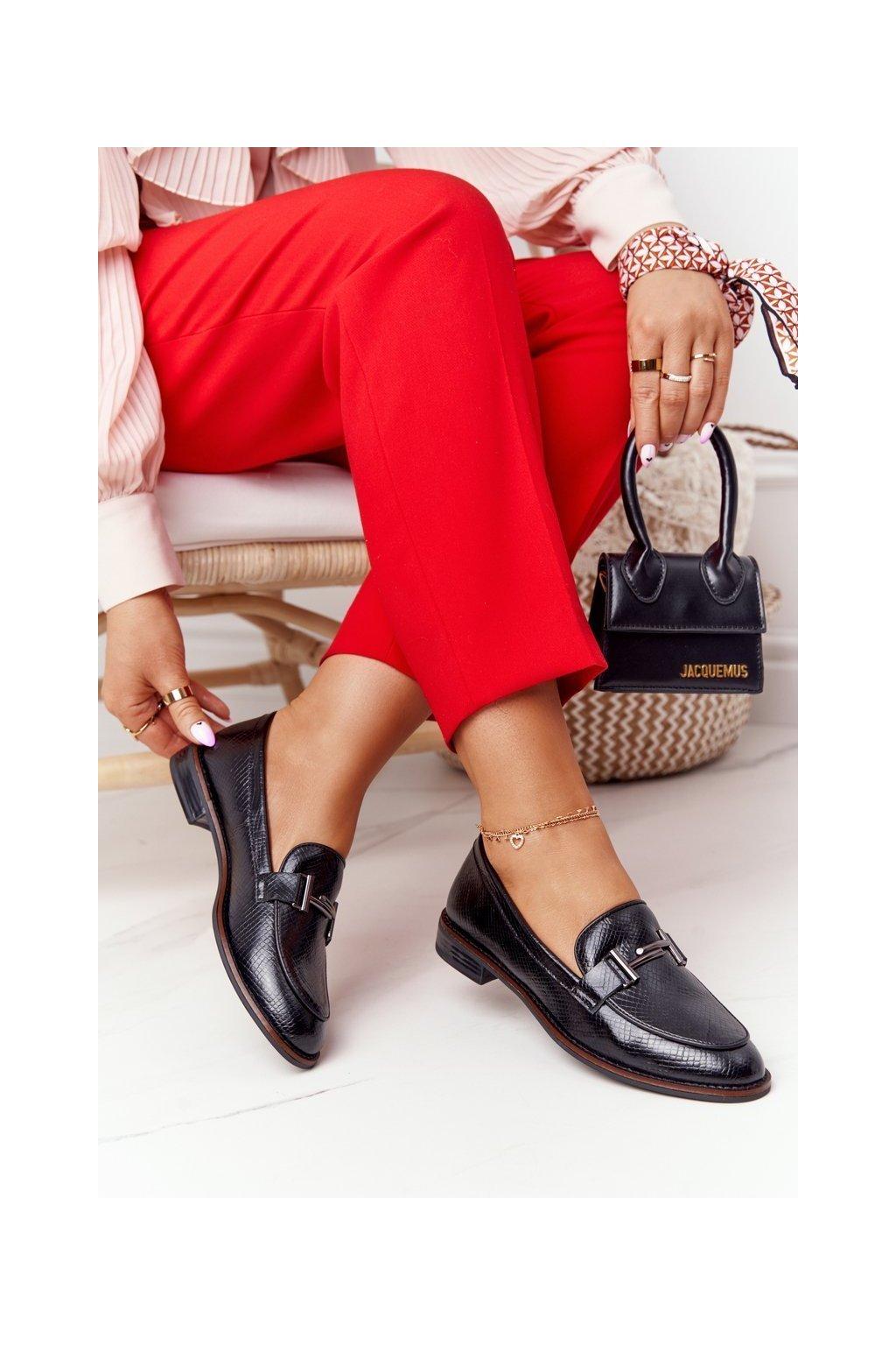 Dámske mokasíny farba čierna kód obuvi PB253 PU BLK