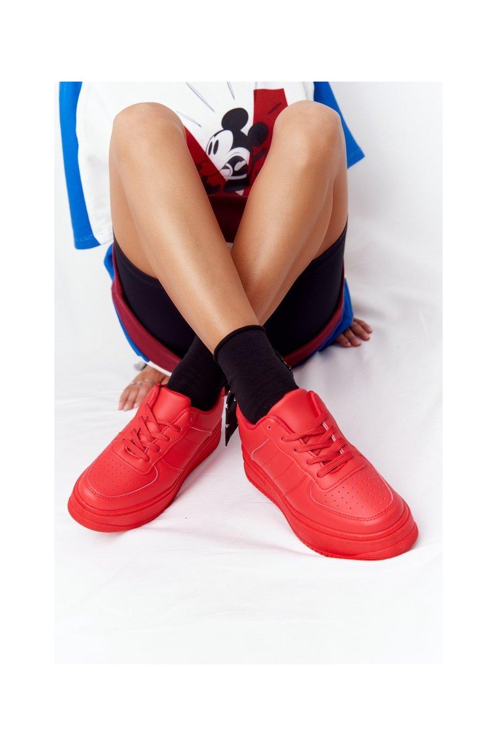 Dámske tenisky farba červená kód obuvi G191 RED