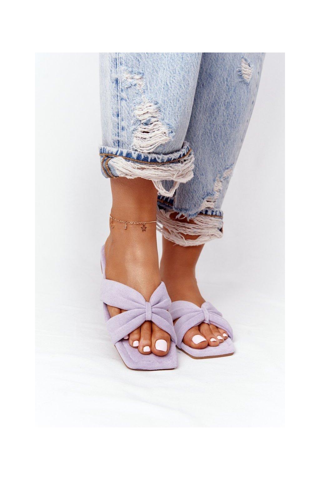 Dámske šľapky farba fialová kód obuvi XY05 PURPLE