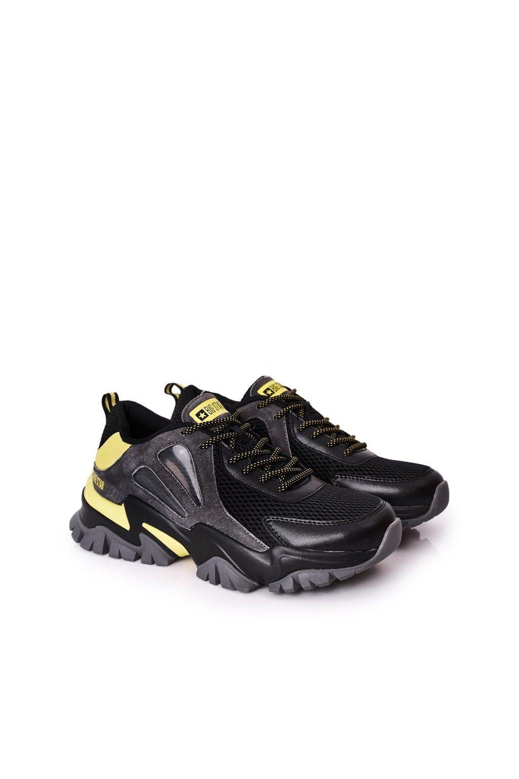 Čierna obuv kód topánok HH174278 BLACK/D.GREY