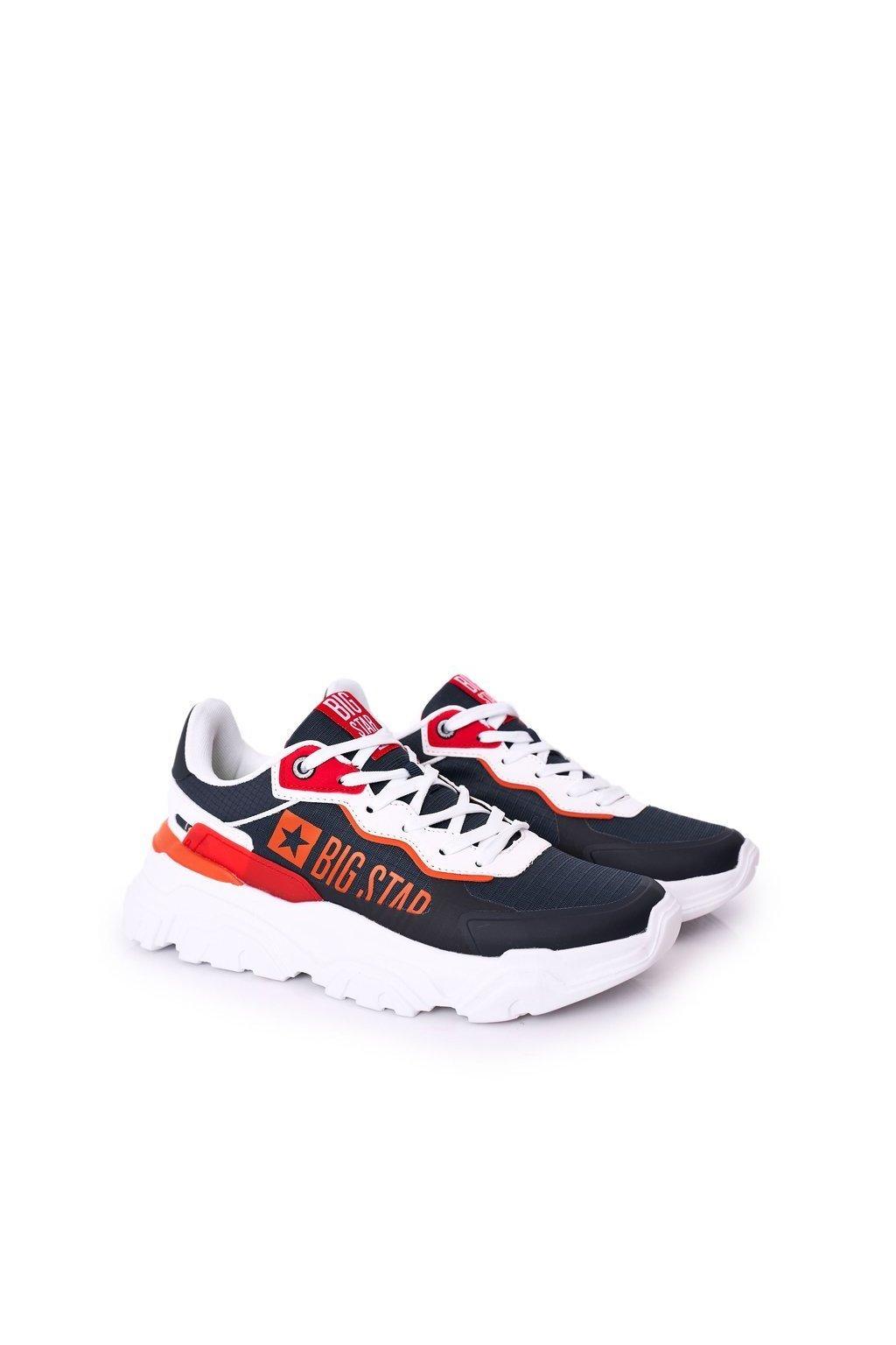 Biela obuv kód topánok HH174207 NAVY/WHITE/RED