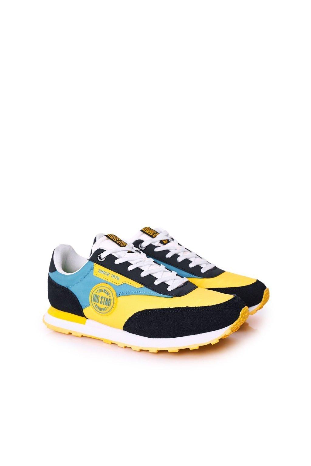 Žltá obuv kód topánok HH174249 YELLOW/SKY BLUE