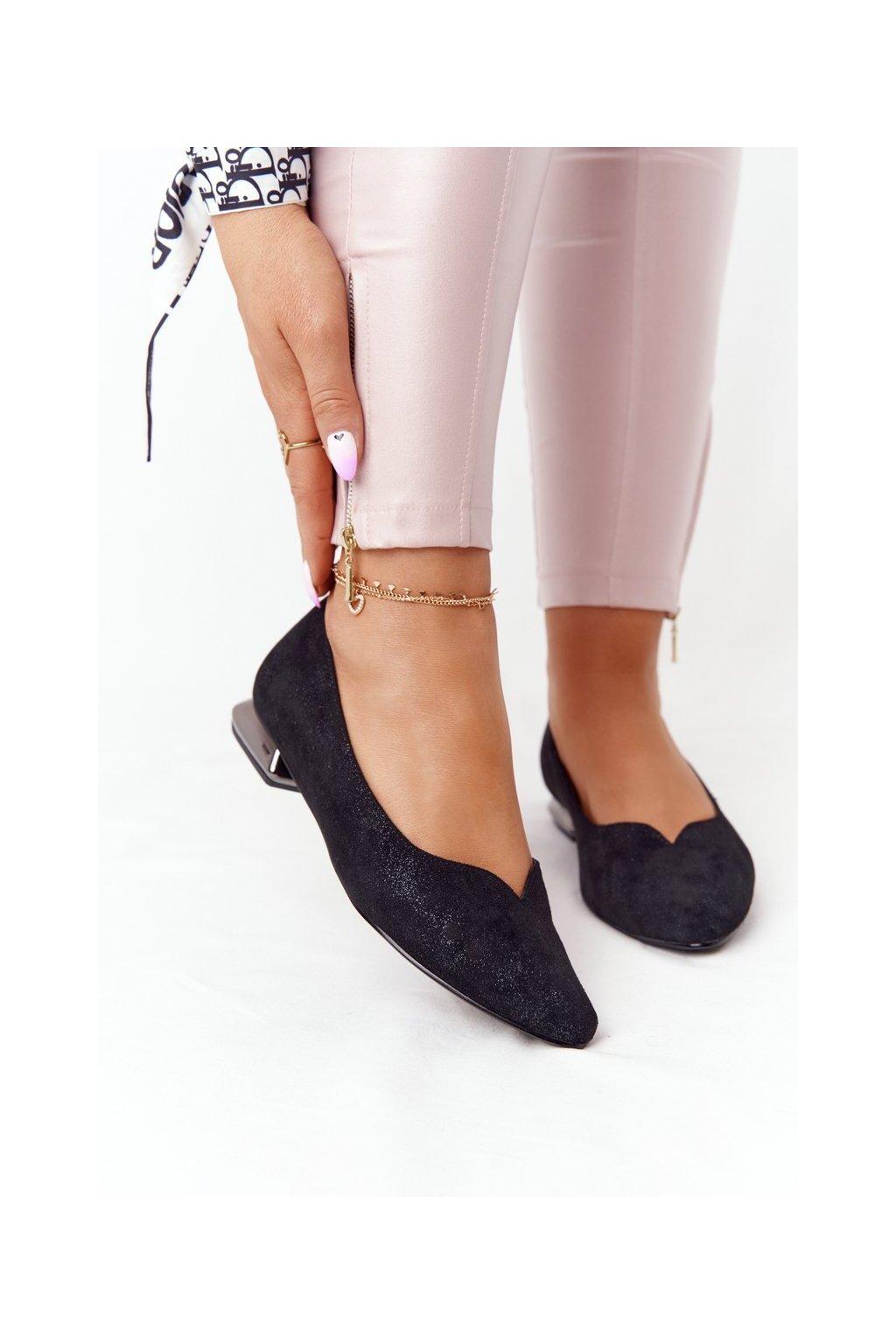 Dámske mokasíny farba čierna kód obuvi 21-10601 BLACK