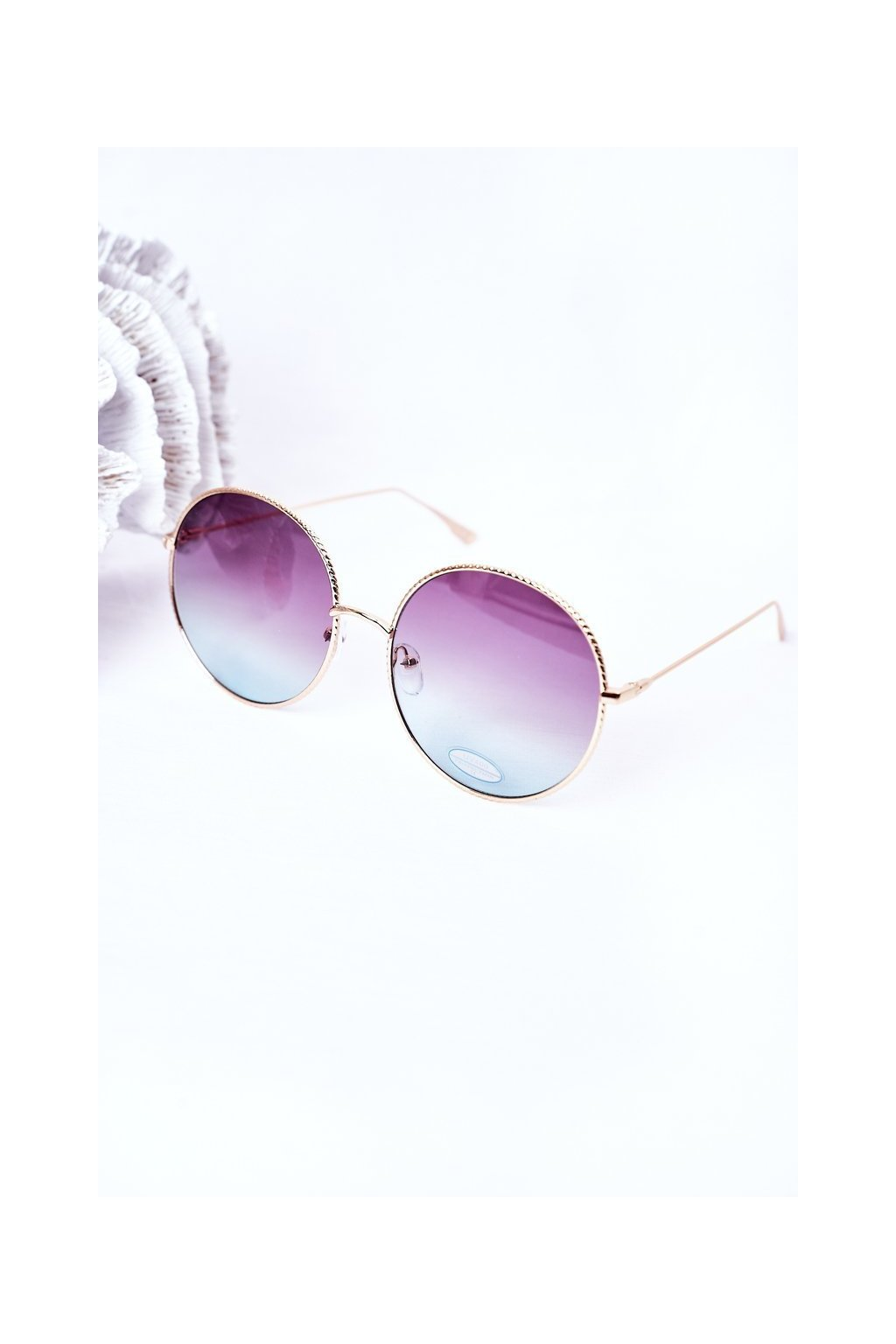 Módne slnečné okuliare LOOKS STYLE modro-ružové LOOKS001 BLUE/PINK