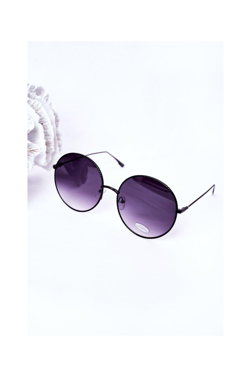 Módne slnečné okuliare LOOKS STYLE čierne LOOKS001 BLACK