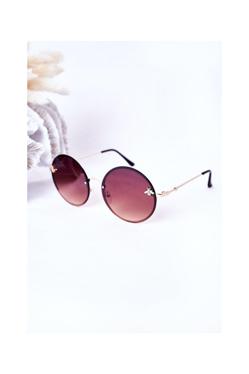 Módne slnečné okuliare VINSENT hnedé VINSENT005 BROWN