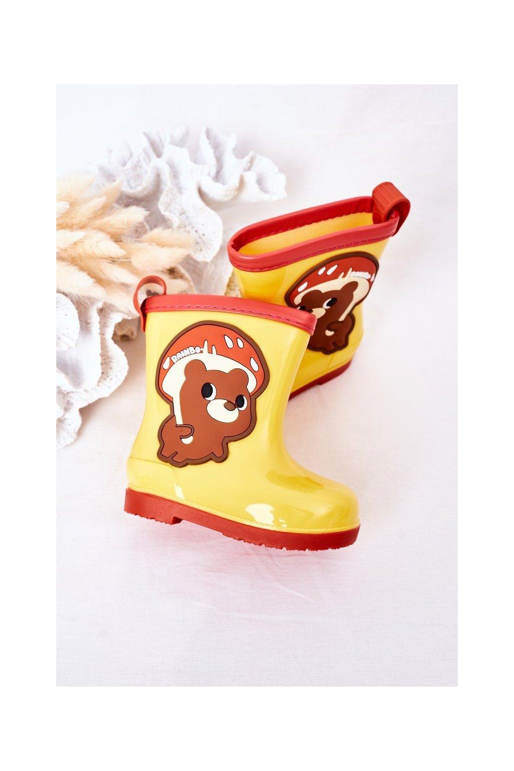 Žltá obuv kód topánok 150 YELLOW