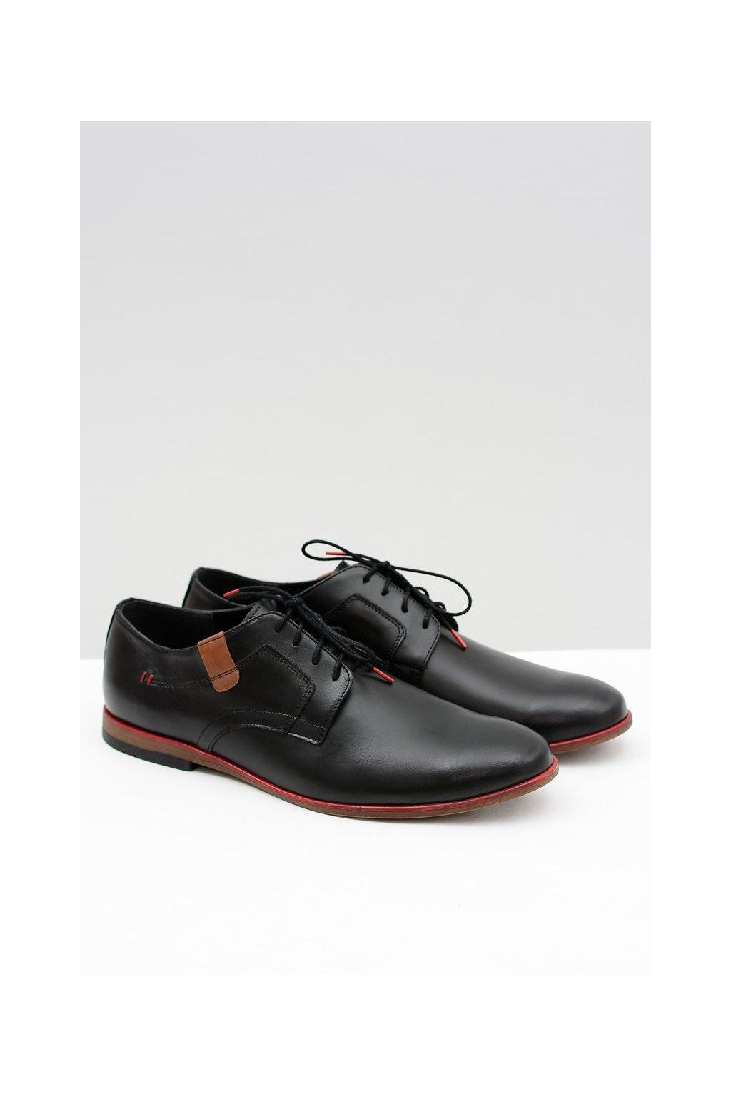 Pánske poltopánky farba čierna kód obuvi 403 BLK