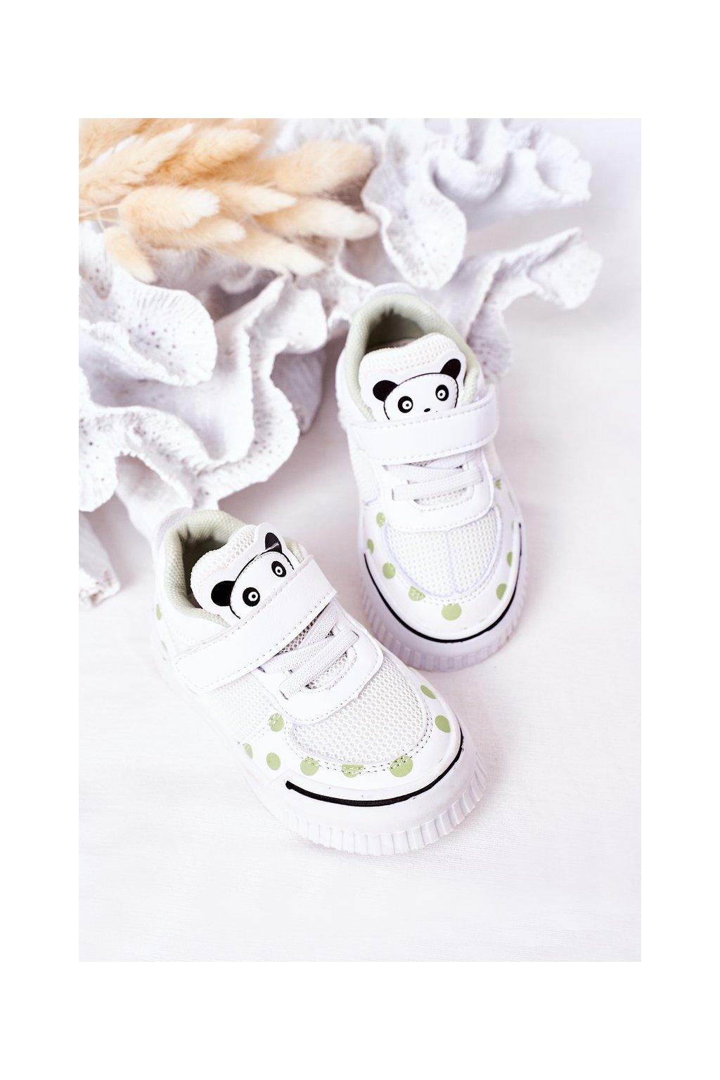 Detské tenisky farba biela kód obuvi NC59 GREEN