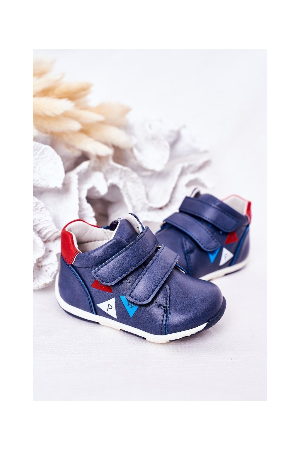 Detské tenisky farba modrá kód obuvi HQ20 NAVY