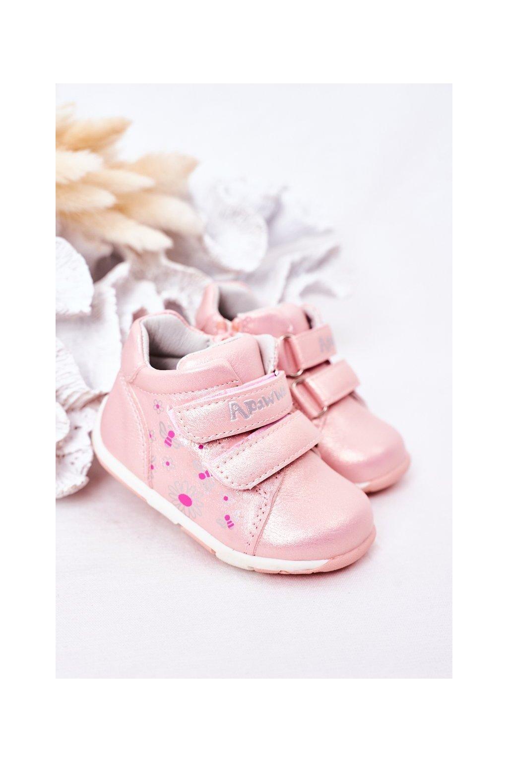 Detské tenisky farba ružová kód obuvi HQ19 PINK