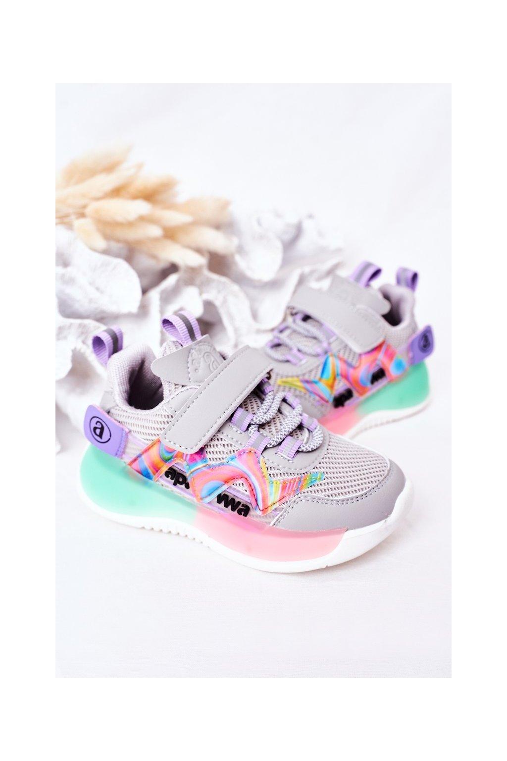 Detské tenisky farba sivá kód obuvi GC27 GC28 GREY