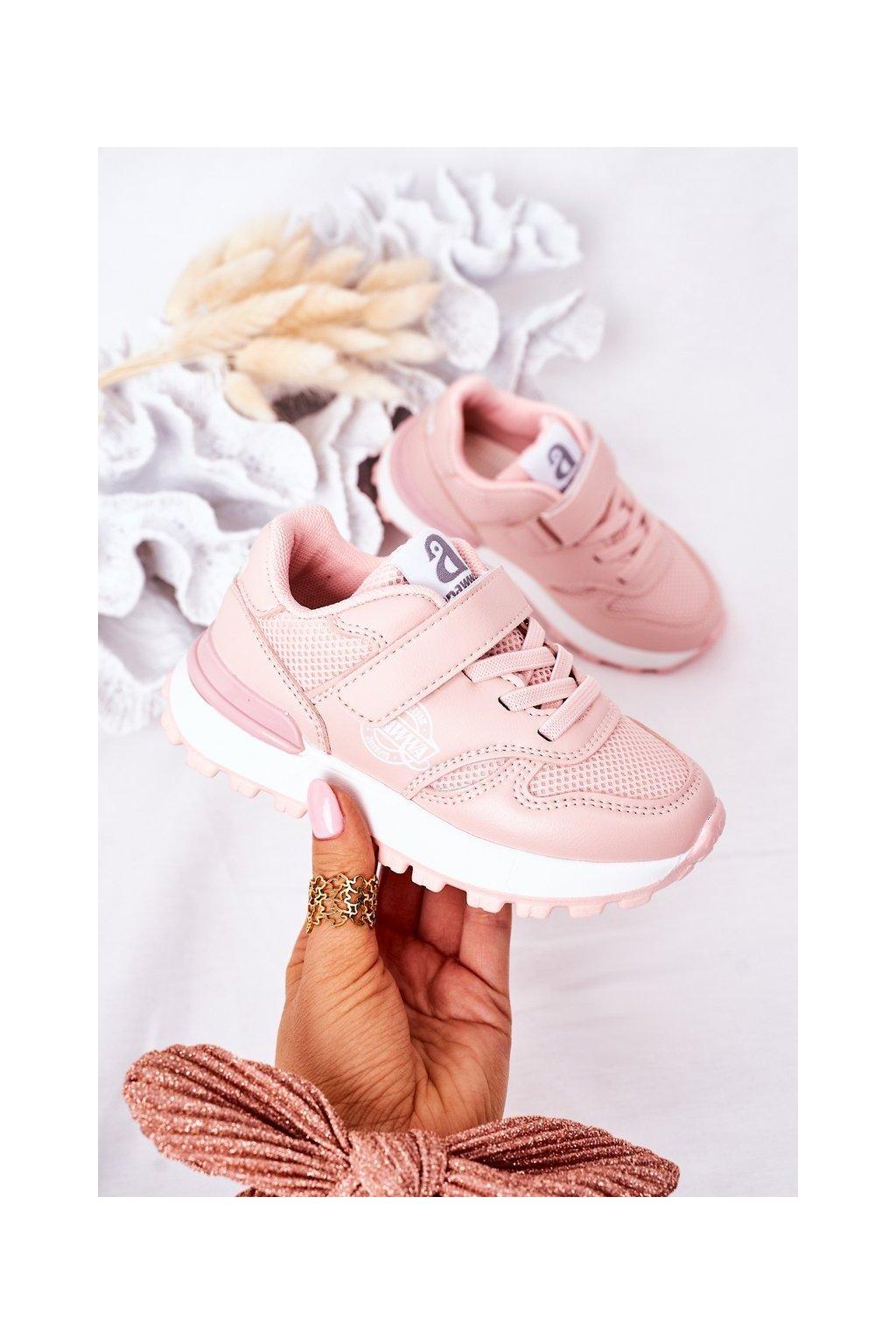 Detské tenisky farba ružová kód obuvi GC23 PINK