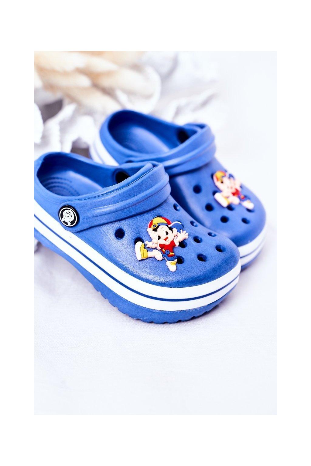 Detské šľapky farba modrá kód obuvi 8843CC BLUE