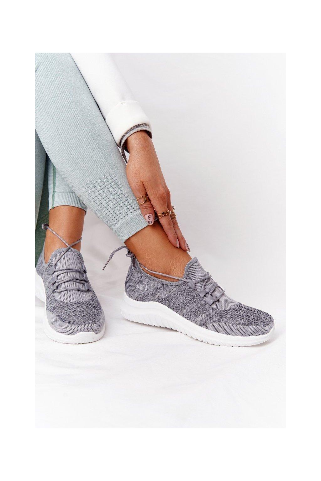 Dámske tenisky farba sivá kód obuvi YM001-3 GREY