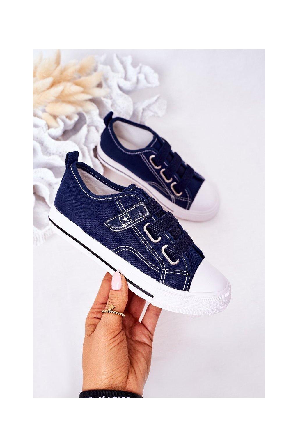Detské tenisky farba modrá kód obuvi 21DZ35-3584 NAVY