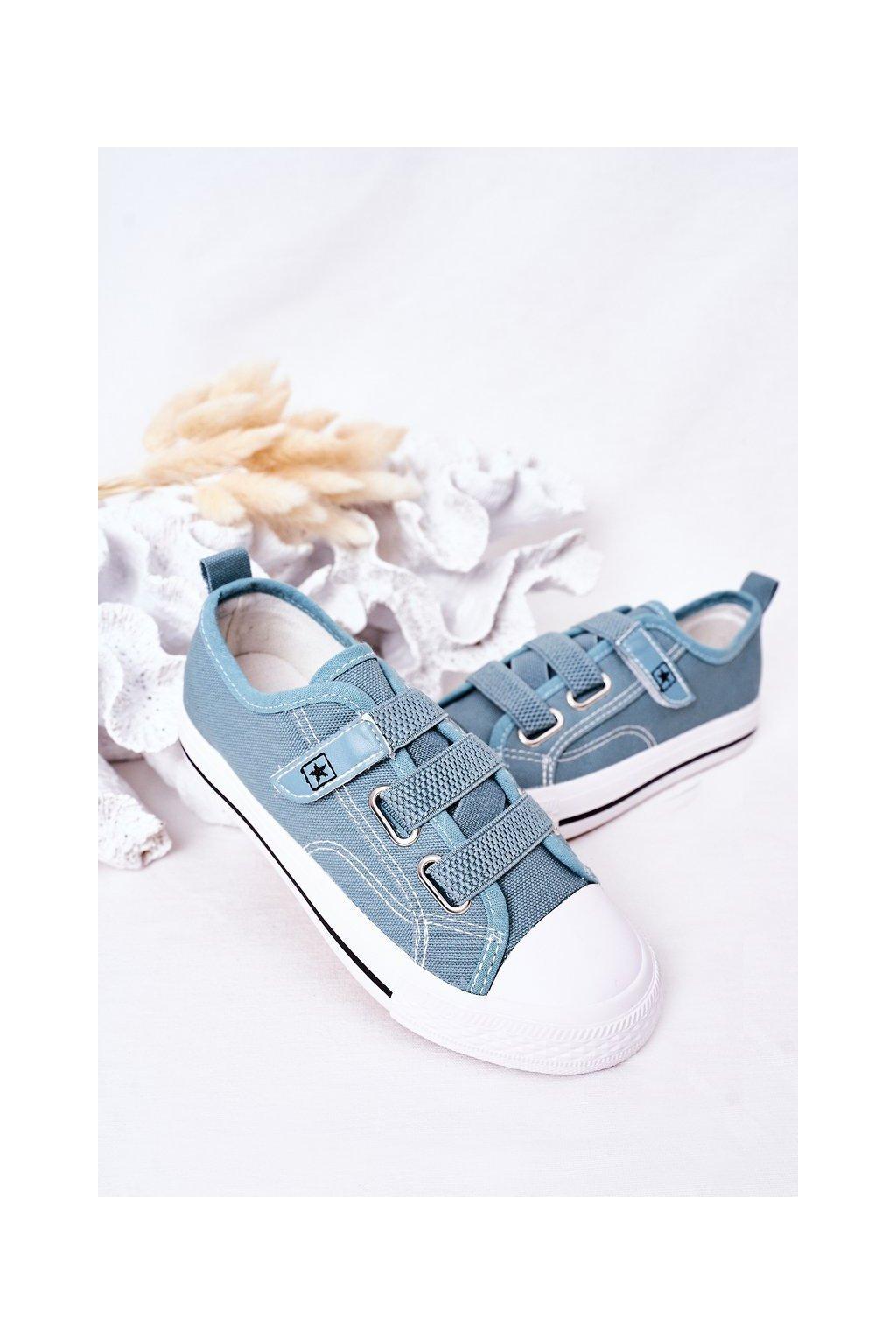 Detské tenisky farba modrá kód obuvi 21DZ35-3584 BLUE
