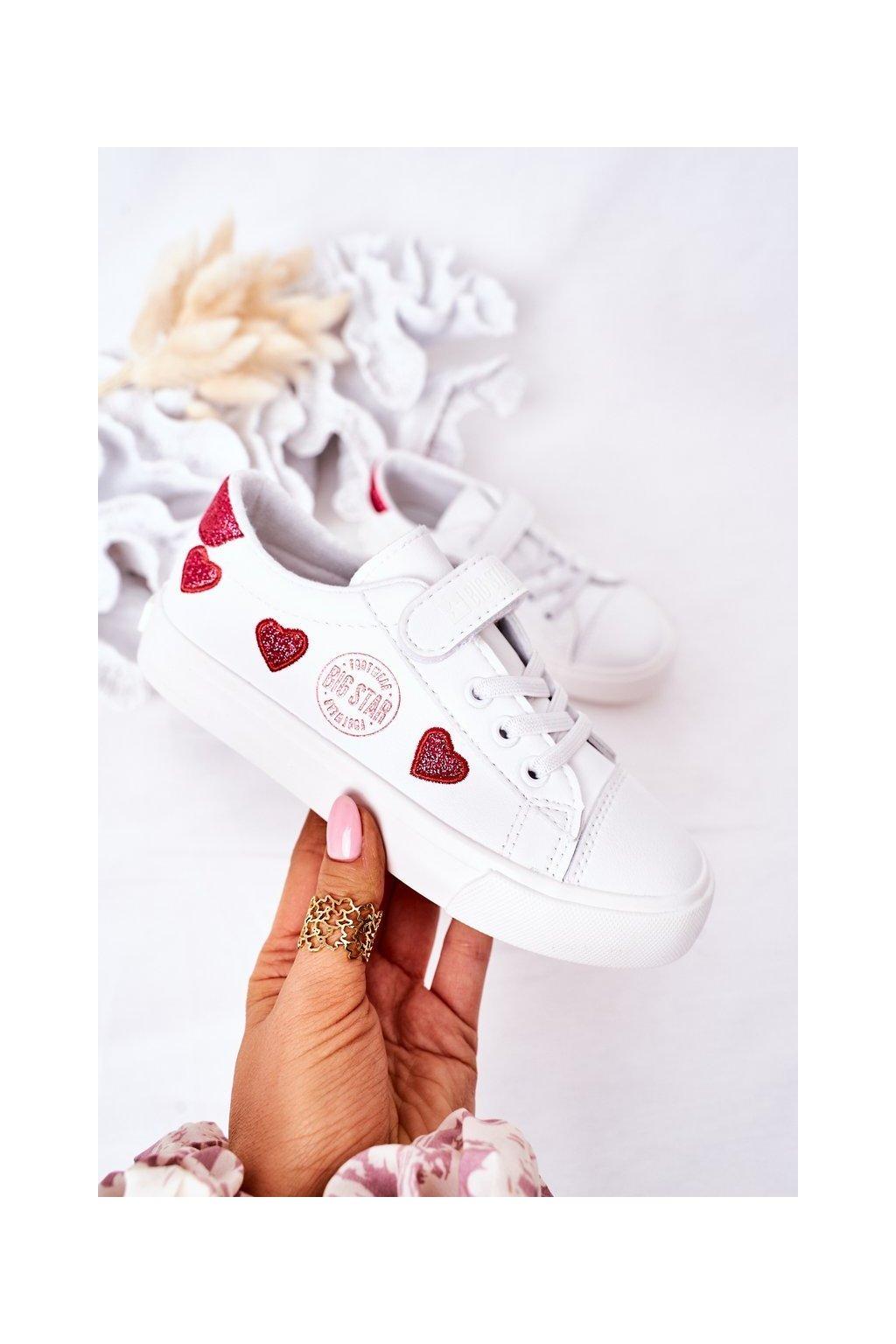 Detské tenisky farba biela kód obuvi HH374001 WHITE
